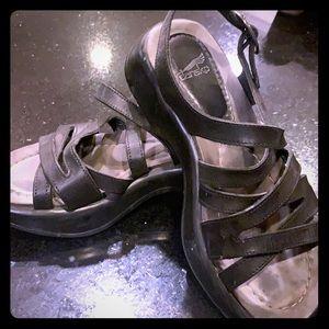 Dansko strappy sandals in black leather